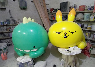 Handmade Fiberglass Cartoon Statues Goog Looking Appearance Custom Size