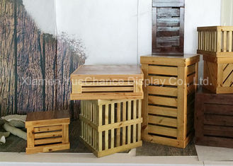 Window Display Decorations Custom Decorative Wood Crate Brand Store Decorative Props