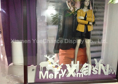 Wide Range Materials Shop Display Christmas Decorations Decorative PVC Christmas Letters